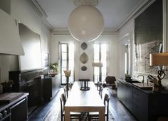 Julianne Moore, Oliver Freundlich, Formal Eat-in Kitchen | Remodelista