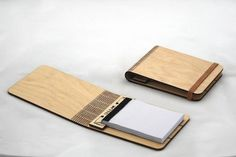 Wooden Booklets by Snijlab