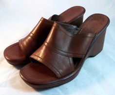COLE HAAN Women's Shoes ~ Amber Brown Mule Sandals ~ Size 7 M #ColeHaan #Mules