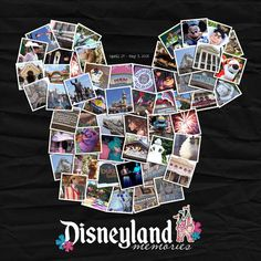 I have zillions of pictures from our Disney vacations ... this is such a great idea by Yzerbear19 to use a cluster of photos for the title page!