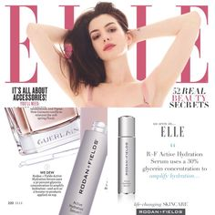 "Free Press Alert! Our newest product that hasn't even been launched yet has made it in April 2017 issue of Elle magazine. Elle magazine recently said ""We Dew"" and featured R+F Active Hydration Serum on its April ""Beauty It List."" Elle praised our newest innovation for its ability to ""amplify hydration"" and act as ""a booster to products applied on top."""