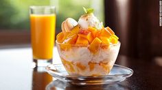 """Shilla Seoul's apple mango bingsu. """"We use the highest quality apple mangoes from Jeju Island and have opted to use a minimum amount of ingredients to keep the taste very clean and healthy,"""" says hotel a representative."""