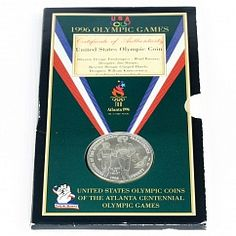 USA Blister Silver Coin 1 Dollar Olympic Games Paralympics Sprint Atlanta 1995