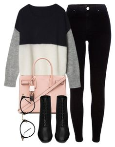 Untitled #5200 by laurenmboot on Polyvore featuring polyvore, mode, style, River Island, Yves Saint Laurent, fashion, women's clothing, women's fashion, women, female, woman, misses and juniors