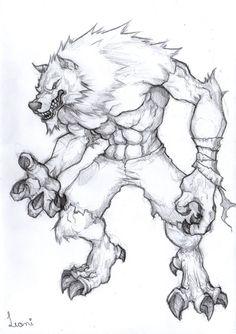 werewolf sketch by LeoniFerraz