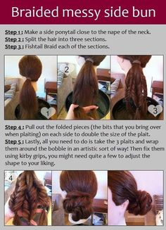Side Bun with Messy Braids Tutorial