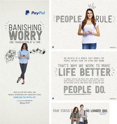 Anúncio da nova campanha do PayPal, apresentando o novo logo.