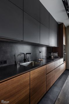 53 Favorite Modern Kitchen Design Ideas To Inspire. When it comes to designing the modern kitchen, people typically take one of two design paths. The first path uses modern art as inspiration to creat. Kitchen Room Design, Kitchen Cabinet Design, Kitchen Layout, Home Decor Kitchen, Interior Design Kitchen, New Kitchen, Kitchen Ideas, Awesome Kitchen, Rustic Kitchen