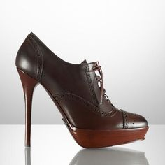 Lace-up Oxford Bootie