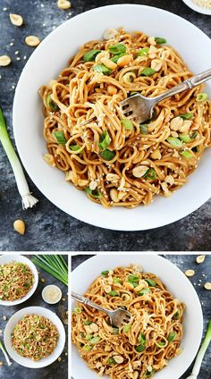 Sesame Noodles With An Amazing Asian Peanut Sauce Are Easy To Make At Home, You Only Need 20 Minutes, And They Taste Even Better Than Takeout! They Are Great Served Warm Or Cold! #noodles #sesame #easyrecipe Visit twopeasandtheirpod.com for more simple, fresh, and family friendly meals.