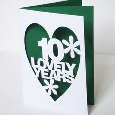 Papercut Personalised Anniversary Card  Hand Cut To by Storeyshop, £7.50