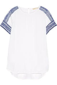 MICHAEL MICHAEL KORS Embroidered crepe top  AU$217.90 http://www.net-a-porter.com/products/549929