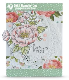 stampin up for you card