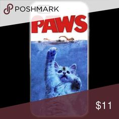 """KITTY PAWS IPHONE 5c 5/5s 6/6s 6/6s+ This a iPhone 5c 5/5s 6/6s 6/6s Plus phone case. It is made of durable hard plastic. Easy snap-on design for a lightweight feel and great phone protection.   PLEASE SPECIFY WHAT SIZE IPHONE AND COLOR OF CASE.  CafeCases- """"Where cases tell a story..."""" APPLE Accessories Phone Cases"""