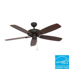 Sahara Fans Charleston 52 in. Energy Star Bronze Ceiling Fan-10032 at The Home Depot GREAT ROOM $119