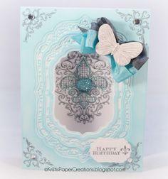 Kristi's Paper Creations: Fleur De Lis Happy Birthday designed by Kristi Schurr