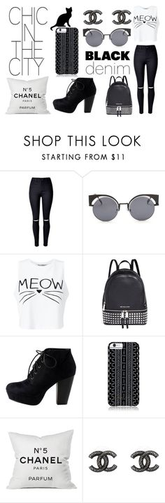 """""""Catty"""" by gnjau ❤ liked on Polyvore featuring WithChic, Miss Selfridge, Michael Kors, Savannah Hayes and Chanel"""