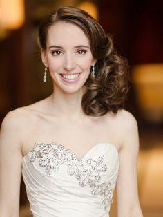Pnina Tornai sweetheart neckline gown | Rebecca Yale Photography