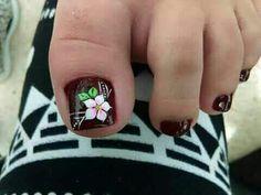 Cute Toe Nails, Toe Nail Art, Flower Pedicure Designs, Cute Pedicures, Painted Toes, Manicure Y Pedicure, Autumn Nails, Toe Nail Designs, Beautiful Nail Designs