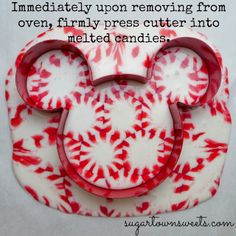 I make a large one to serve as a platter for cookies but this is cute for ornaments