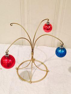 Vintage Blue & Red Mercury Glass Christmas by LavenderRoadAntiques