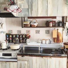 かご/団地/台所/カッティングボード/キッチンのインテリア実例 - 2016-03-01 09:29:02   RoomClip(ルームクリップ)