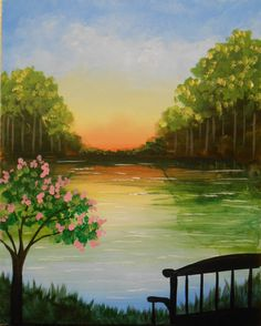Join us at Pinot's Palette - Woodlands on Fri Oct 2013 for Woodlands Reflections. Seats are limited, reserve yours today! Painting & Drawing, Watercolor Paintings, Wine And Canvas, Paint And Sip, Pics Art, Pictures To Paint, Acrylic Art, Beautiful Paintings, Painting Inspiration
