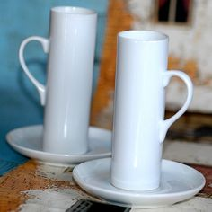 very tall coffee mugs, different, fun #coffee #coffeemugs