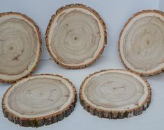 Balm of Gilead Log/Tree Round Slice 4 Pack . UnFinished Set of Four Slices in this Package! Log Slices to diameter x thick. Rustic Centerpieces, Wedding Centerpieces, Wedding Decor, Rustic Wedding, Wedding Ideas, Log Slices, Tree Slices, Raw Wood, Wood Slab