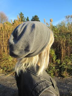 Merino Wool Knit Hat Gray Slouchy Beanie Hat Grey by Vacationhouse $45 on Etsy