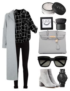 """""""Outfittet to go #2"""" by dilara-emine ❤ liked on Polyvore featuring Hermès, Gianvito Rossi, NARS Cosmetics, Yves Saint Laurent, South Lane, Gucci and New Look"""