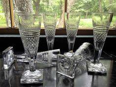 A rare model of champagne flutes.