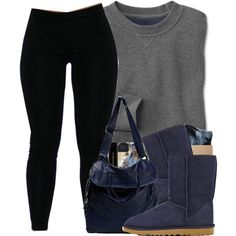 A fashion look from January 2014 featuring HUF socks, UGG Australia ankle booties and Sissi Rossi messenger bags. Browse and shop related looks.