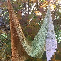 Rain chain shawl, crochet, sock (small size)