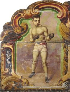 Billy Wood and Son 'Boxing Booth' Vintage Carnival, Art Uk, Wood, Painting, Lovely Things, Boxing, Muscle, Athletic, Inspiration