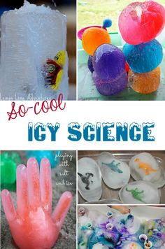 Icy science experiments for kids - perfect for summer!