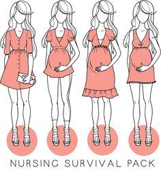Nursing Survival Pack | Sewing Patterns from Megan Nielsen
