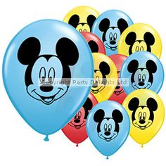 Mickey Mouse Face Balloons - 5'' Latex