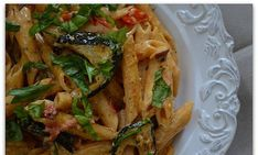 Creamy Pasta with Roasted Vegetables