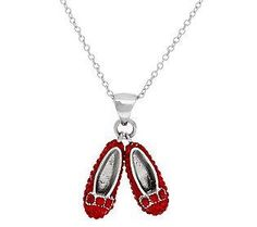 Dorothy's fabulous taste in shoes makes for a pretty pendant necklace #WizardofOz75