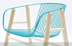 LAPA / chair / wood and steel by Rui Alves