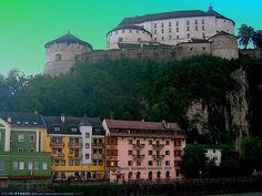 AUT Kufstein Historisches Festung [Inn] from Innbruecke by KWOT
