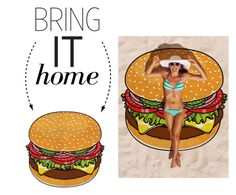"""""""Bring It Home: Burger Beach Blanket"""" by polyvore-editorial ❤ liked on Polyvore featuring interior, interiors, interior design, home, home decor, interior decorating and bringithome"""