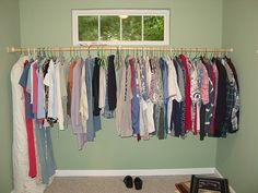 Charming Temporary Closet Solution