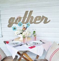 Gather....a nice sign for dining rm or kitchen