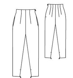 Vintage High Waisted Trousers 04/2015 #129 – Sewing Patterns | BurdaStyle.com