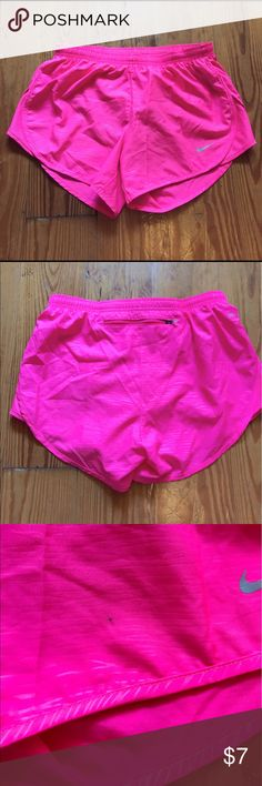 Pink Nike running shorts Size XS These pink Nike shorts have a few stains. See pictures. Nike Other