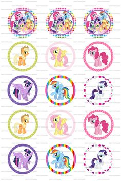 INSTANT DOWNLOAD My Little Pony 4x6 Digital by PartyPotpourri, $1.50