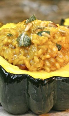 Pumpkin Risotto Stuffed Acorn Squash | The Hopeless Housewife®