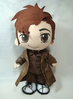 10th Doctor plushie is filled with awesome.